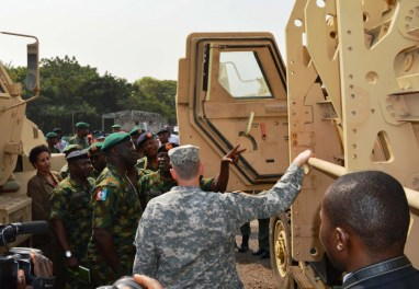 PIC.14. U.S DONATES 24 ARMORED PERSONNEL CARRIERS TO NIGERIA IN LAGOS