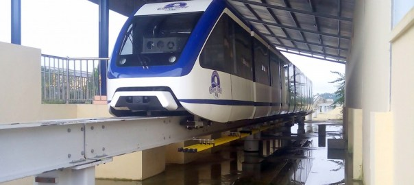 PIC. 6. CALABAR MONORAIL READY FOR INAUGURATION AT TINAPA RESORT
