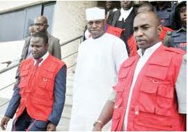 Dimeji Bankole with EFCC operatives