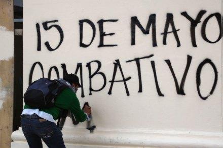 Guerrero. Maestros de la CNTE marchan en contra de la reforma educativa. Foto: Jessica Torres
