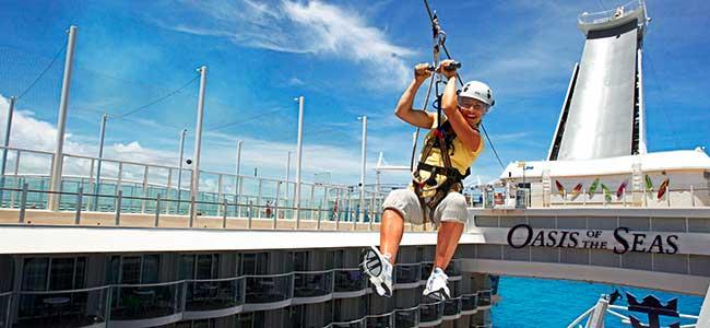 Zip Line on Oasis of the Seas