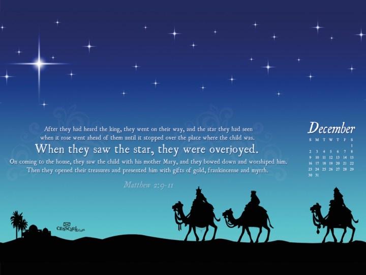 Dec 2012 Wise Men Wallpaper. Crosscards Wallpaper Monthly Calendars ...