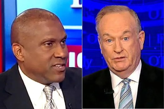 "Watch Tavis Smiley attack ""racial arsonist"" Donald Trump right to Bill O'Reilly's face"
