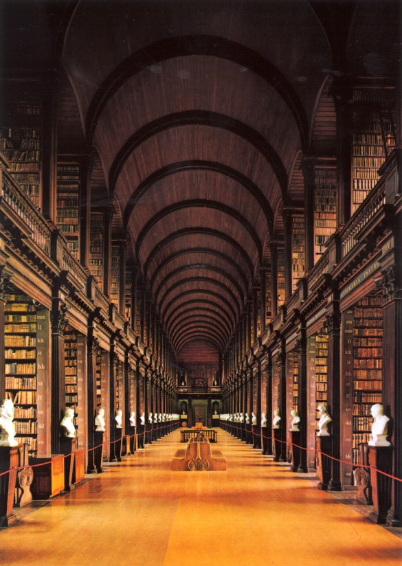 The Long Room at Trinity Library, Cambridge UK.