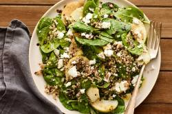 Robust Goat Cheese Recipe Self Goat Cheese Salad Dressing Goat Cheese Salad Beets Spinach Salad Pear Quinoa