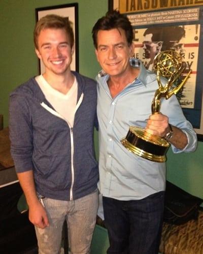 Charlie Sheen via Twitpic
