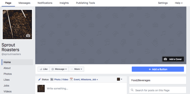 facebook cover and profile image