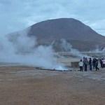 Geothermiskt område. Atacama