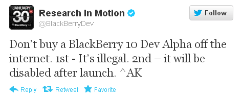 RIM_Dev_Alpha_Phone_Warning