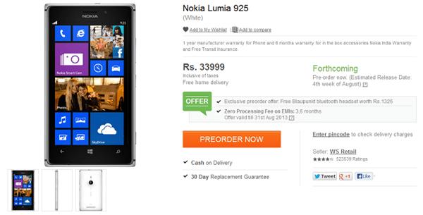 Lumia 925 Pre-Order