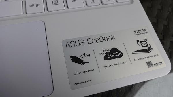 Asus EeeBook X205 Cloud Storage