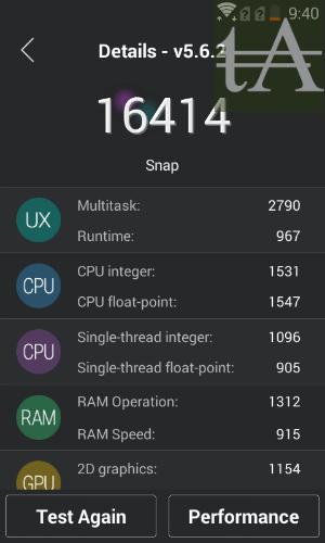 Fly Snap AnTuTu Benchmark Score