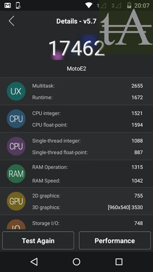 Motorola Moto E 2015 AnTuTu
