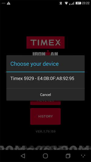 Timex Ironman Move X20 Select Device