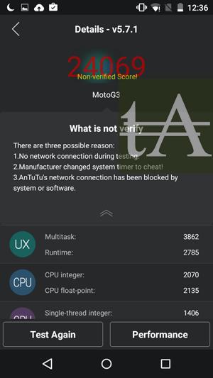 Motorola Moto G3 2015 AnTuTu
