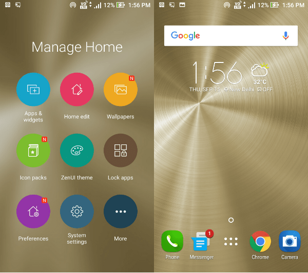 asus zenfone 3 home screen