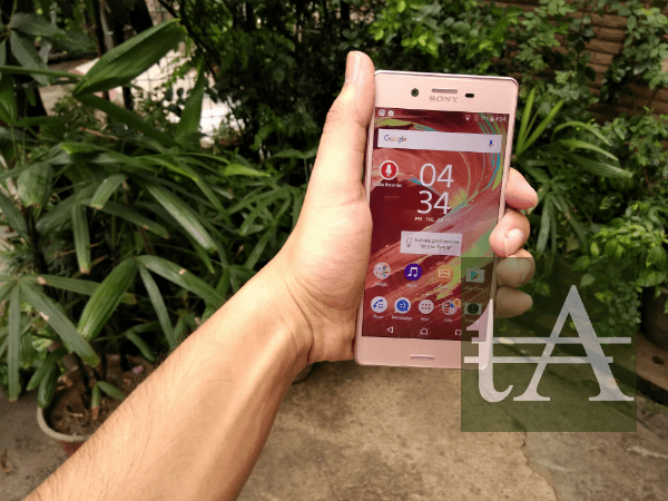 sony xperia x dual front