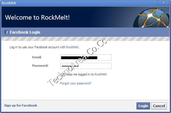 RockMelt_FaceBook_Login