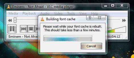 VLC_Building_Font_Cache