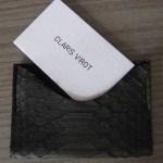 porte carte python Claris Virot