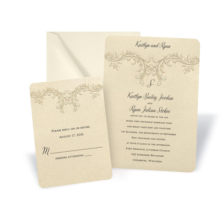 wedding invitation labels michaels michaels wedding invites Baroque Elements Wedding Invitation Michaels Custom Invites