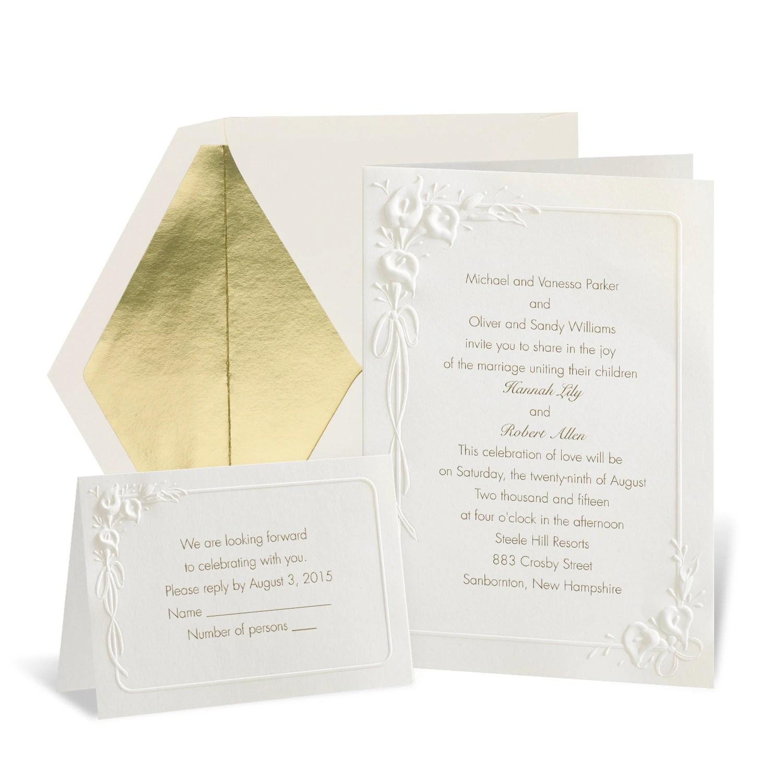 MK Classic Calla Lilies Wedding Invitation michaels wedding invites Classic Calla Lilies Wedding Invitation