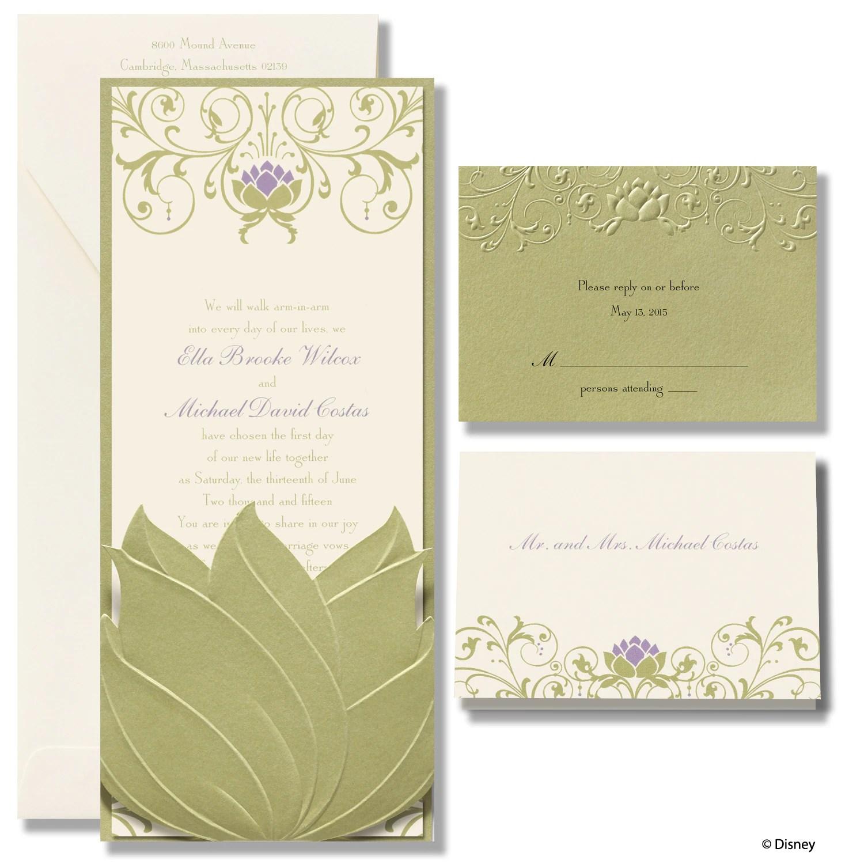 MKZNG Water Lily Wedding Invitation Tiana michaels wedding invites Water Lily Wedding Invitation Tiana