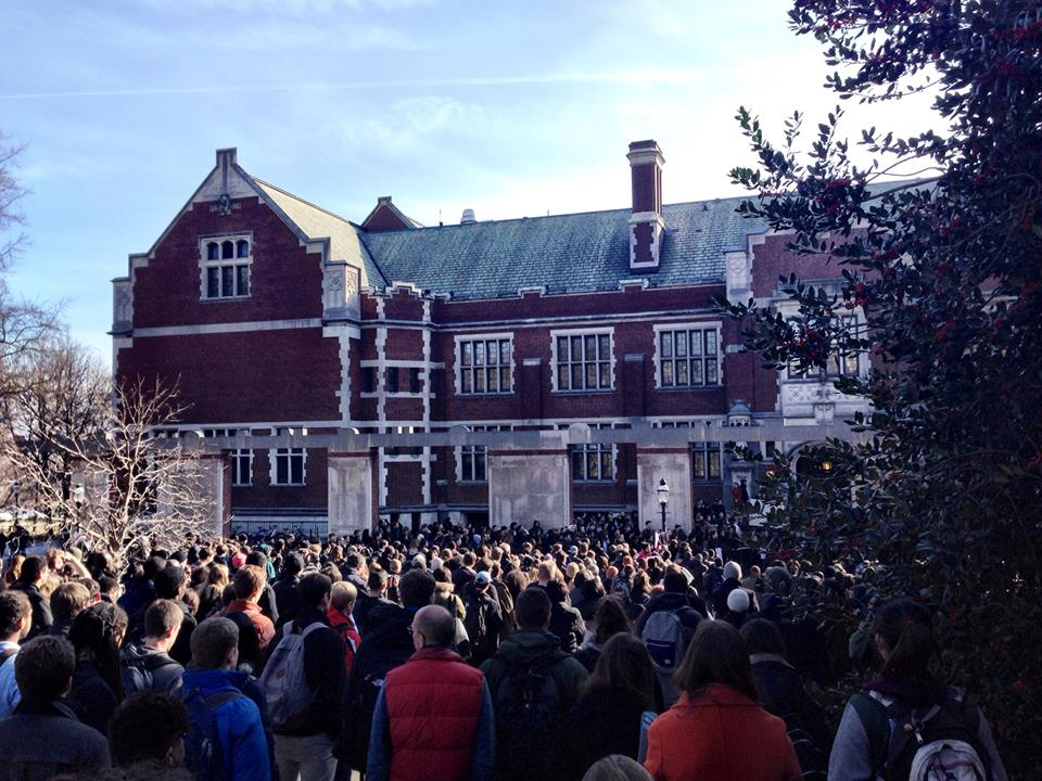 The BJL led a demonstration last year in wake of the Ferguson murder (photo credit: Elena Di Rosa)
