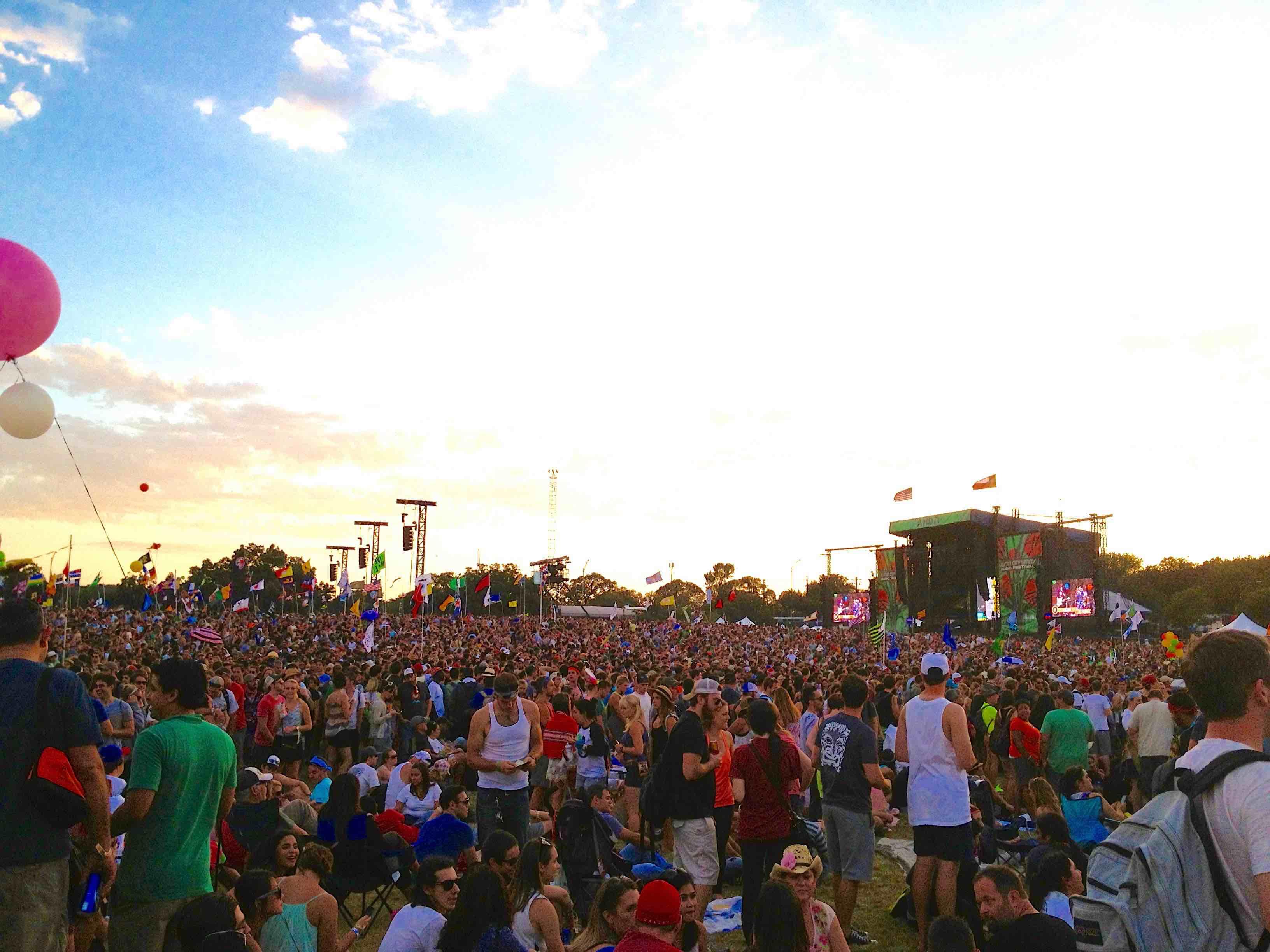 Zilker Park during ACL weekend 2013.