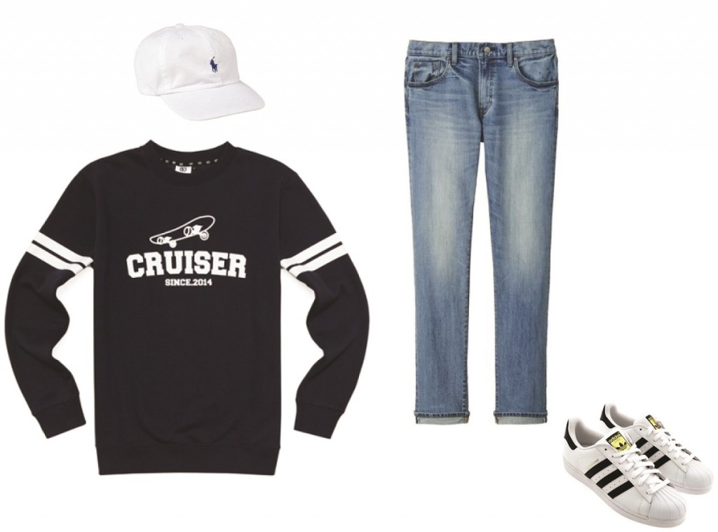 Personally, my favorite dad hat combo consists of a plain sweatshirt, pin-rolled jeans, and Adidas Superstar sneakers with the hat just perched atop.