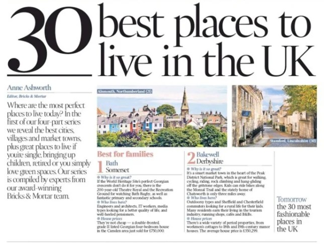 Bath The Best Place To Live In The Uk