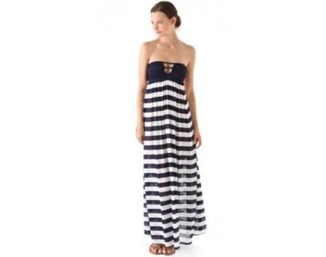 striped navy maxi dress lovesurf