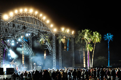 coachella stage at night with lights lovesurf