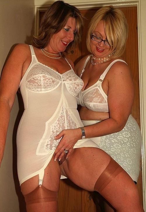 older women in girdles split crotch