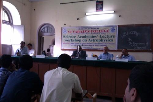 Convenor R Srinivasan speaking at the start of the function