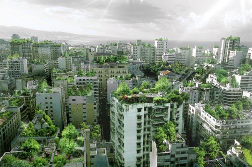 Wassim Melki green roof, sustainable design, beirut lebanon