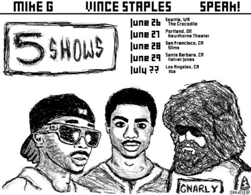 Speak, Mike G & Vince Staples Tour