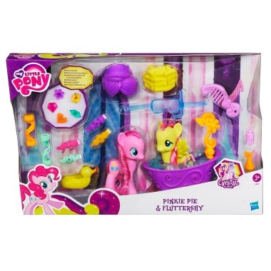 Fluttereshy and Pinkie bath set