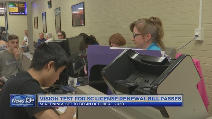 vision test for drivers license renewal