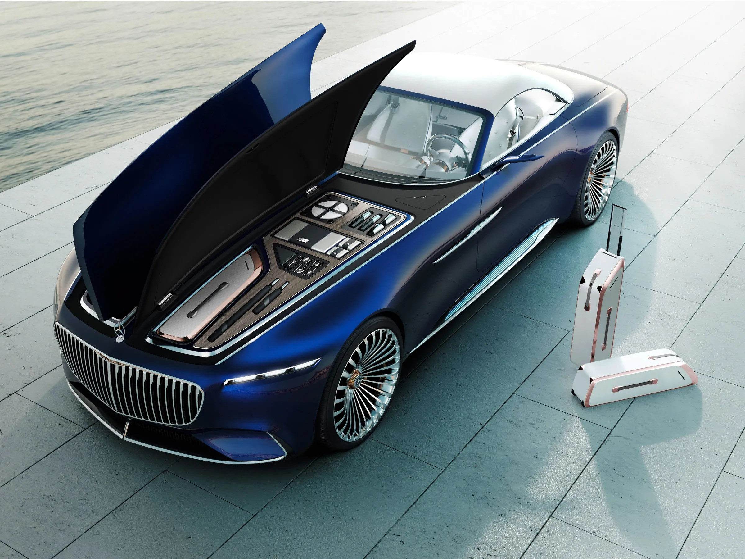 The Vision Mercedes Maybach 6 Cabriolet Rejects the Pod Based     Mercedes Benz