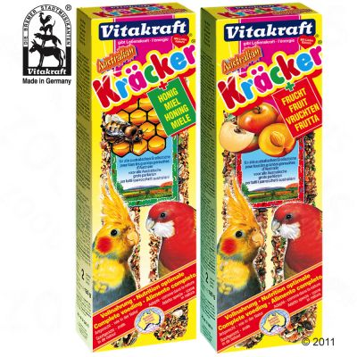 1728 vitakraft gro sittich  4 Vogelsnacks   Crackers