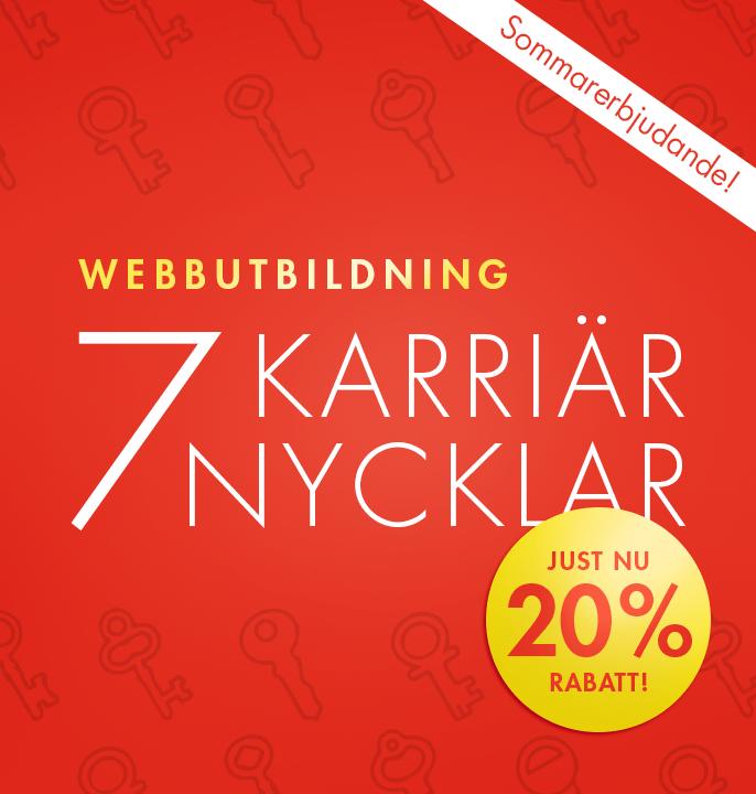 Webbutbildning – 7 karriärnycklar (20% rabatt)