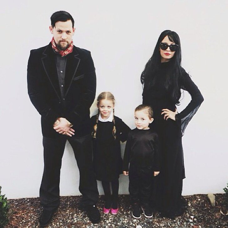 Nicole Richie, Joel Madden, and their kids Harlow and Sparrow channeled the Addams Family.<br /><br /> Source: Instagram user nicolerichie<br /><br />