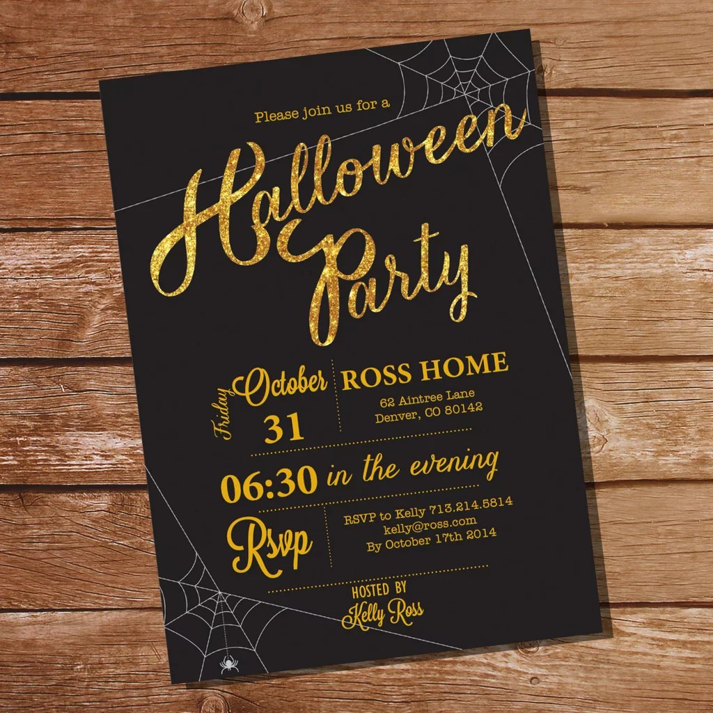 Fullsize Of Halloween Party Invitations