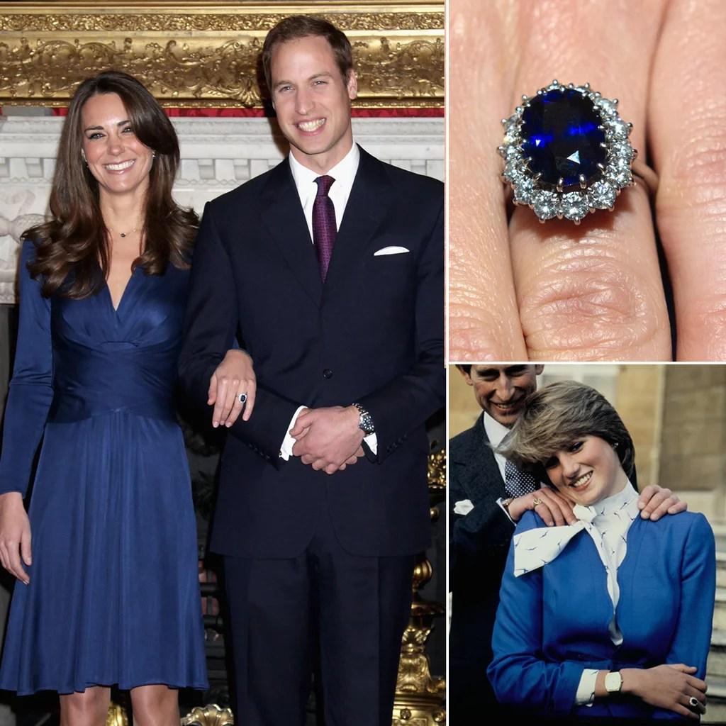 Princess Diana Engagement Ring princess kate wedding ring Princess Diana s Engagement Ring Kate Middleton s Jewelry POPSUGAR Fashion Photo 4