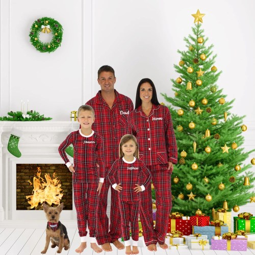 Top Personalized Embroidered Family Pajamas Personalized Embroidered Family Pajamas Matching Family Family S Ny Family S Pets