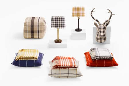 plaid home decor from target fall 2015
