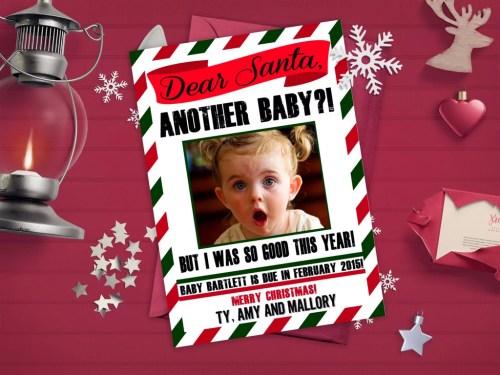 Medium Of Christmas Pregnancy Announcement