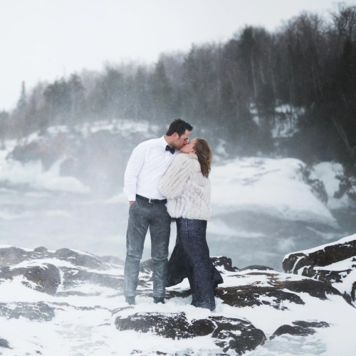 Medium Of Winter Engagement Photos