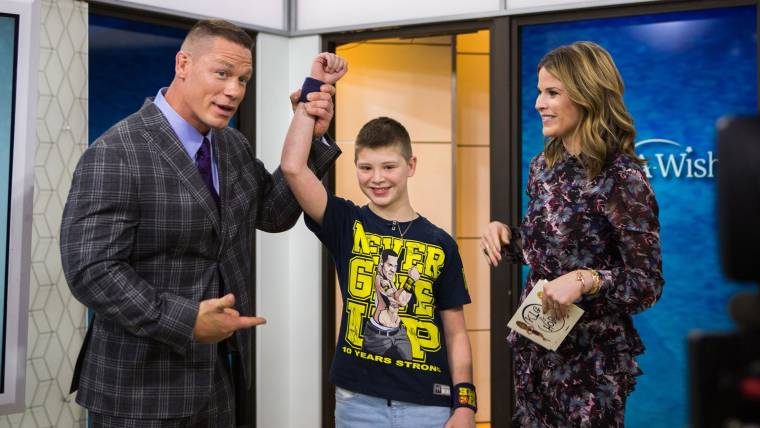 John Cena reunites with a child from the Make A Wish Foundation